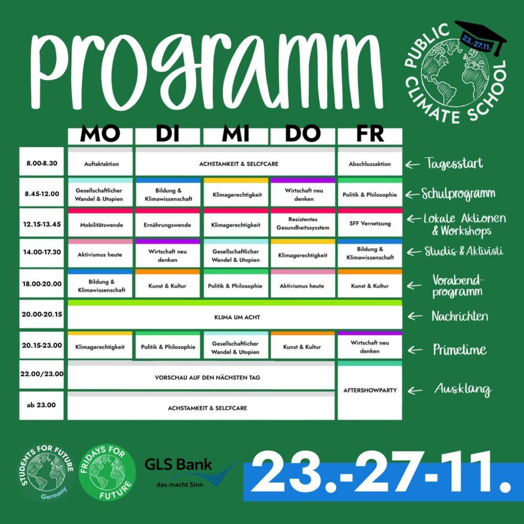 PCS Program Schedule Sharepic