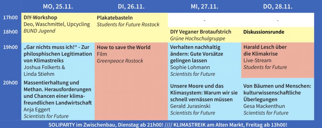 Programm für die Public Climate School