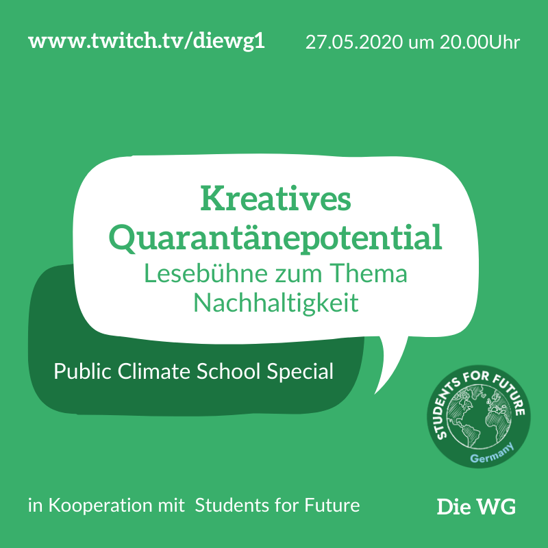 Sharepic Kreatives Quarentänepotential 1
