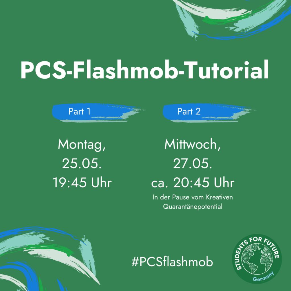 "Sharepic ""PCS-Flashmob-Tutorial"" (Nummer 2)"