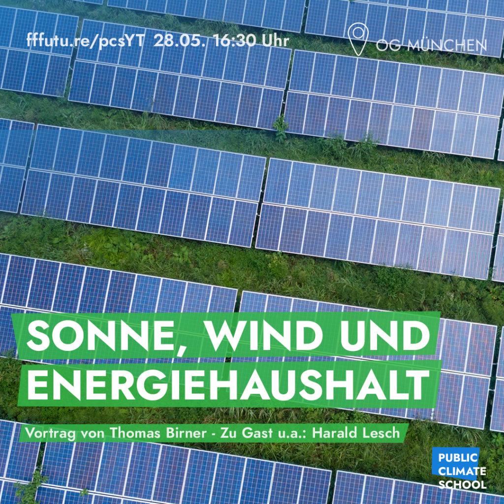 """Sharepic """"Sonne, Wind und Energiehaushalt"""", Thomas Birner und Harald Lesch, 28.08. um 16:30"""