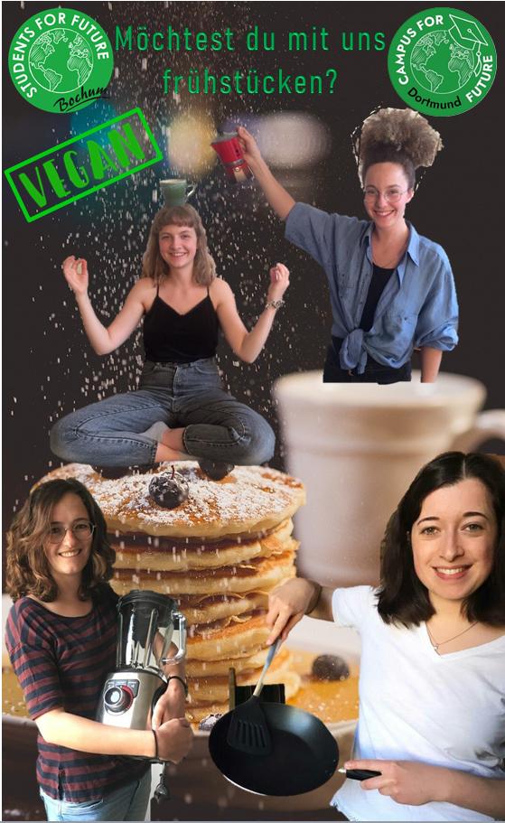 """Sharepic """"Möchtest du mit uns frühstücken? - VEGAN"""""""