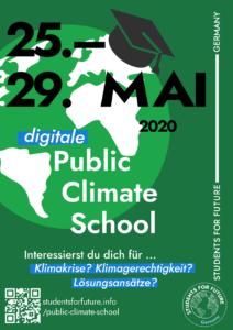 Plakat Public Climate School Mai 2020
