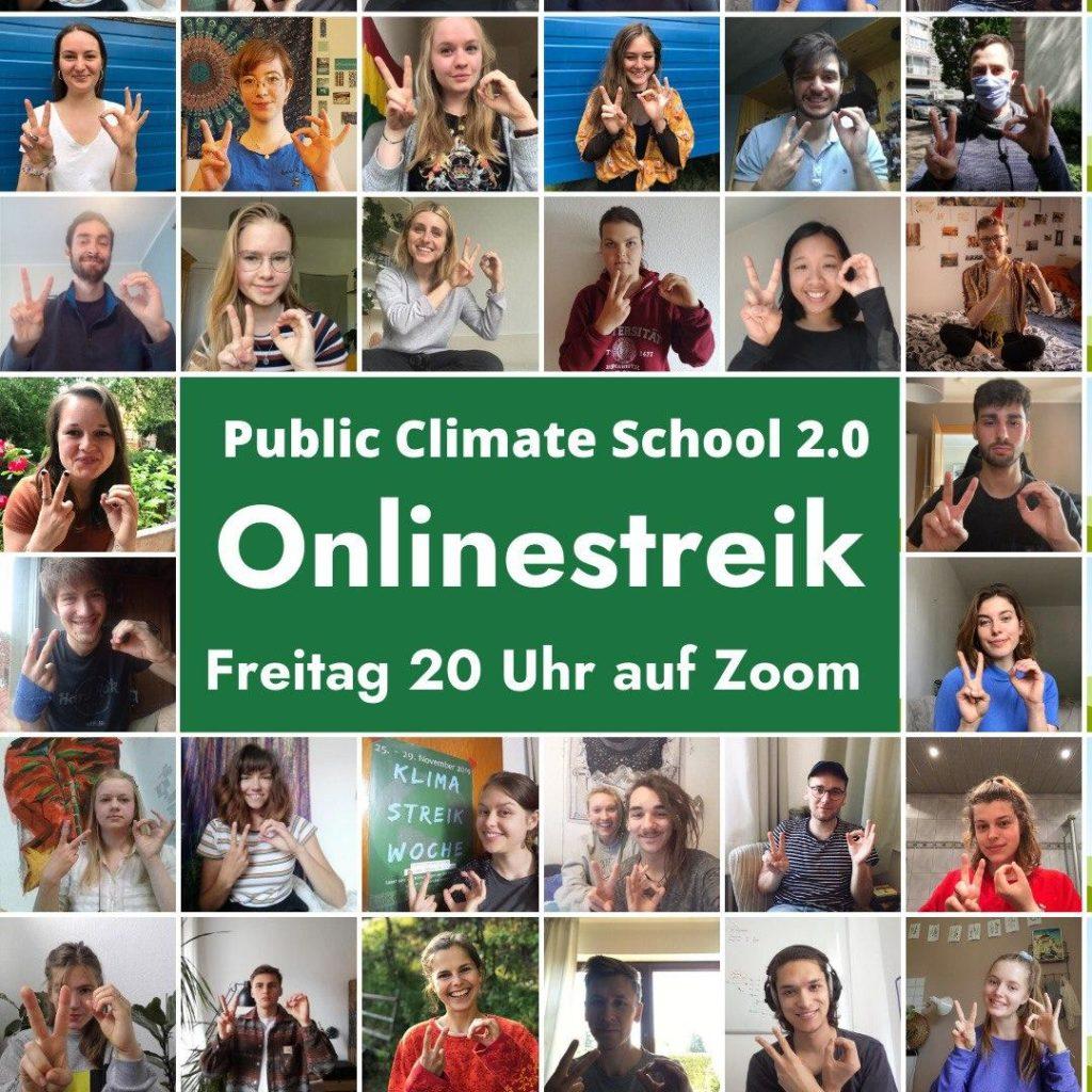 """Sharepic """"Onlinestreik"""", 29.05. 20 Uhr auf Zoom"""