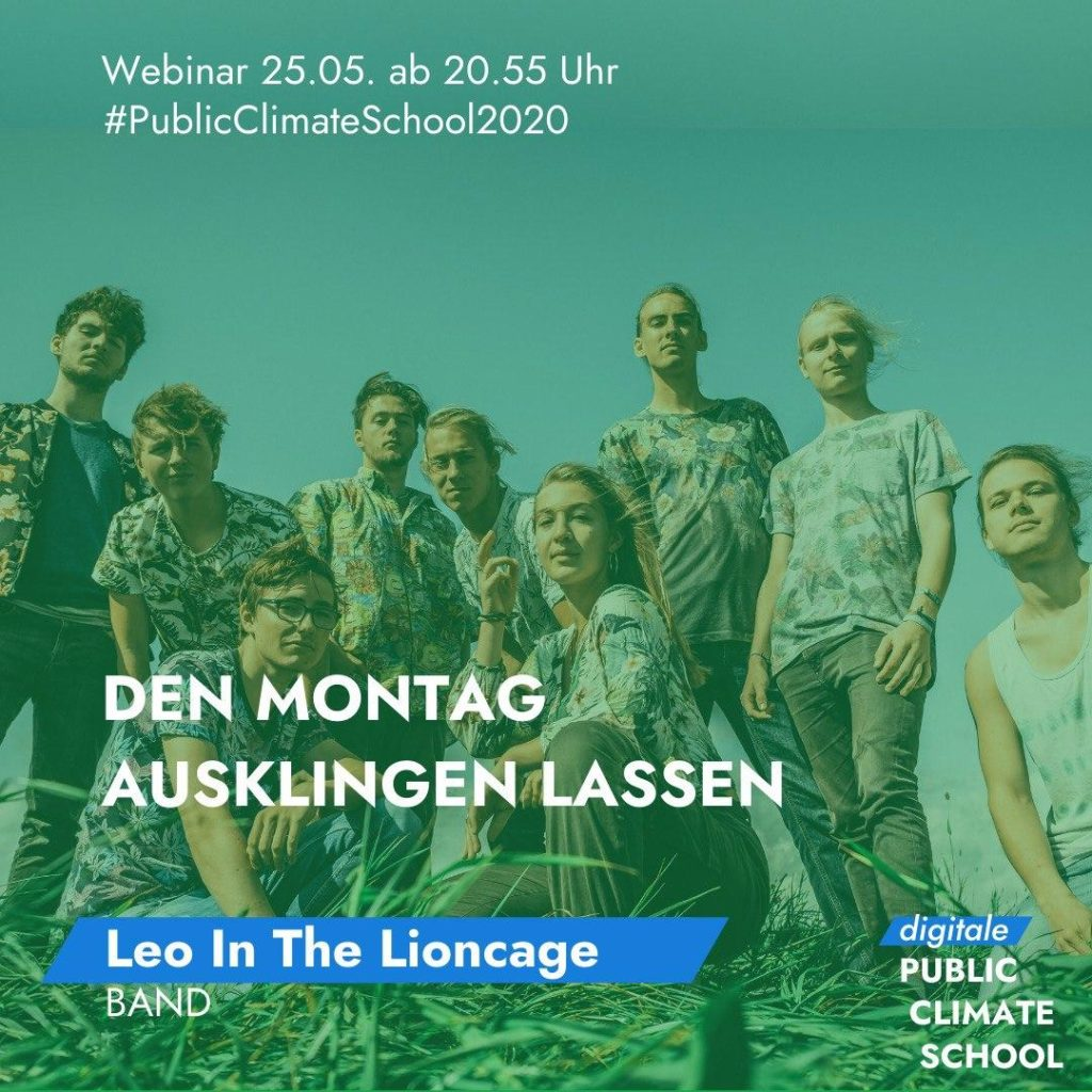 "Sharepic ""Den Montag ausklingen lassen - Leo in the Lioncage (Band)"", 25.05. ab 20:55 Uhr"