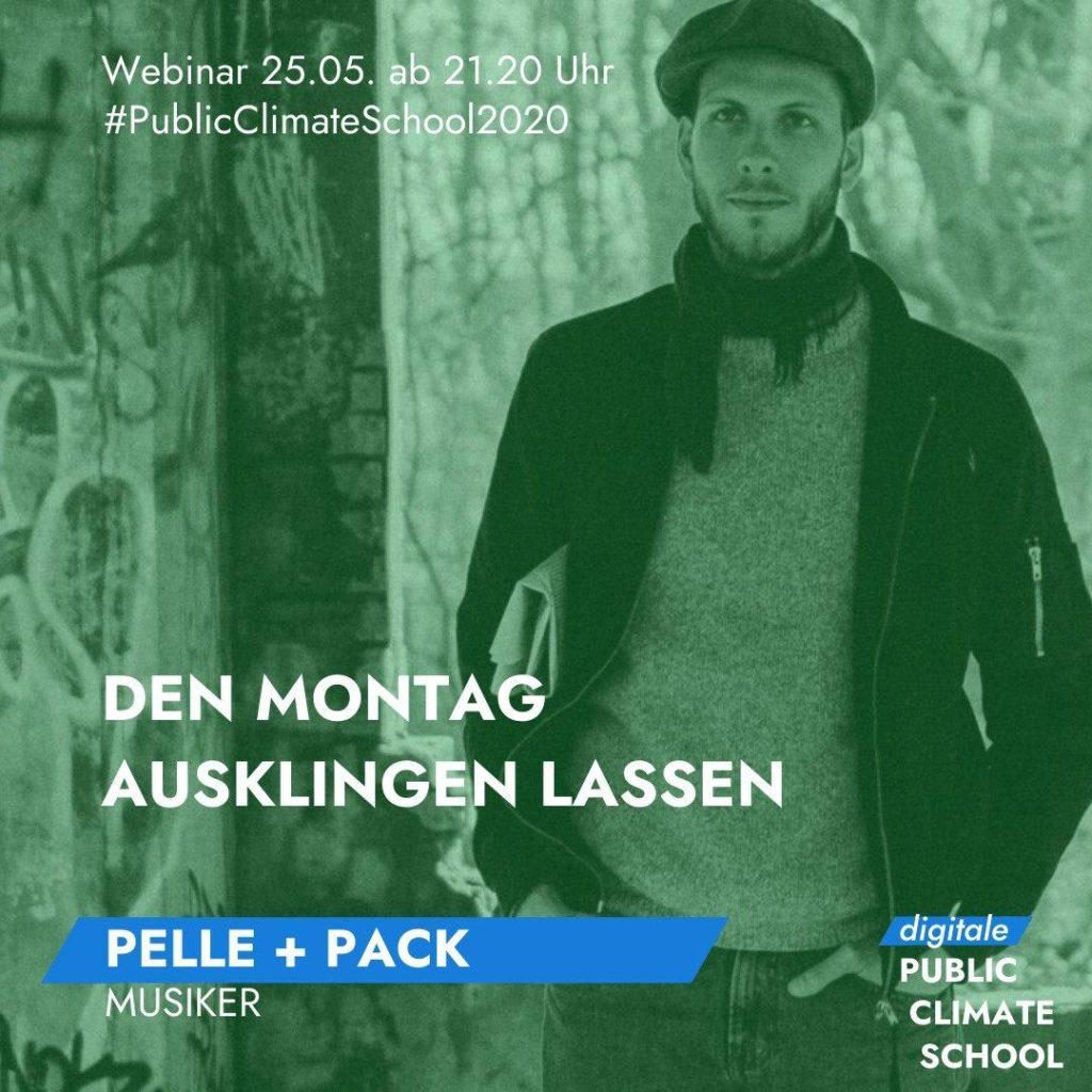 """Sharepic """"Den Montag ausklingen lassen - Pelle + Pack (Musiker"""", 25.05. ab 21:20 Uhr"""