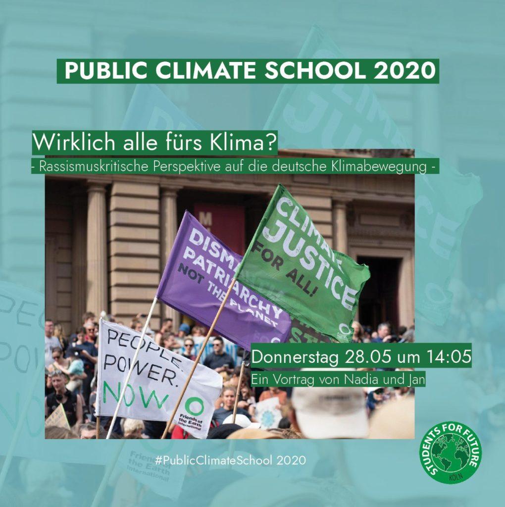 """Sharepic """"Wirklich alle fürs Klima?"""" - Rassismuskritische Perspektive auf die deutsche Klimabewegung, 28.05. um 14:05 Uhr"""