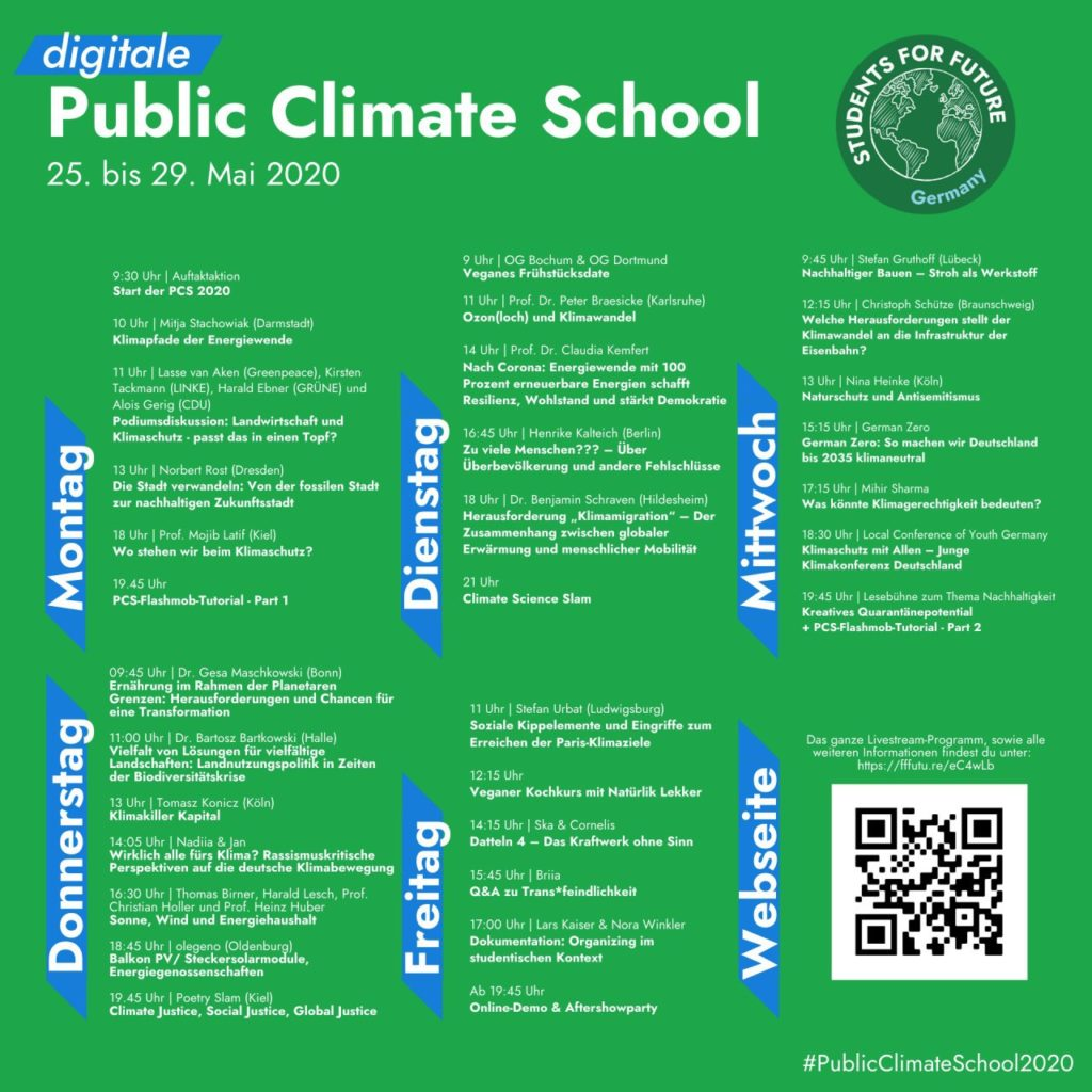 Digitale Public Climate School Wochenübersicht