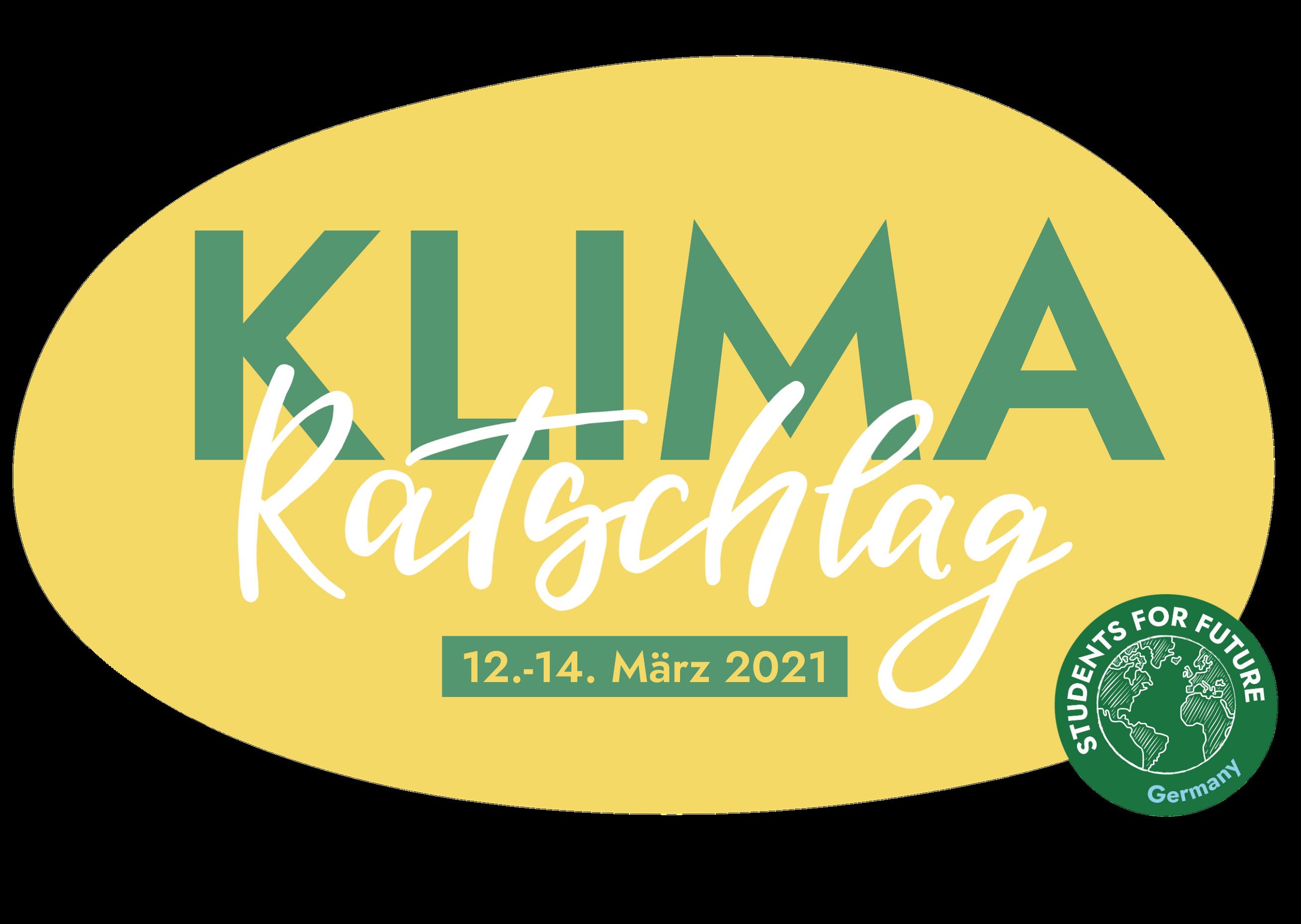 Klimaratschlag vom 12.-14. März