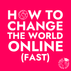 Sharepic: How to Change the World Online (Fast)